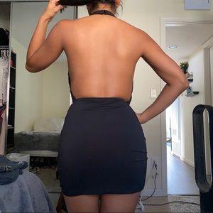 SHEIN Dresses - Black halter mini dress